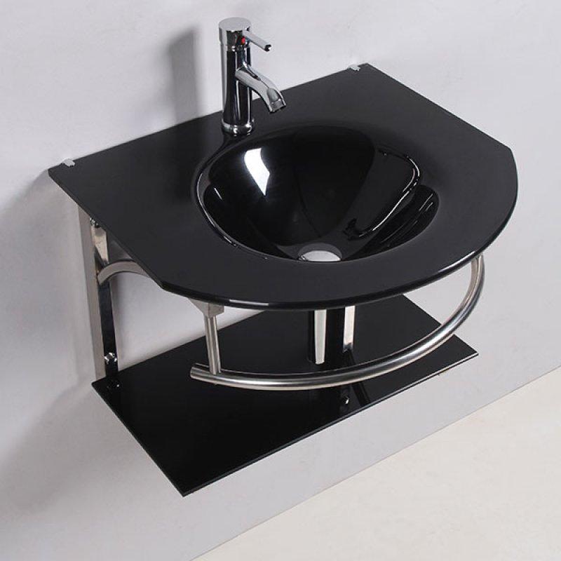 Mueble Baño Betlio Negro Con Lavamanos 60X52 Cm