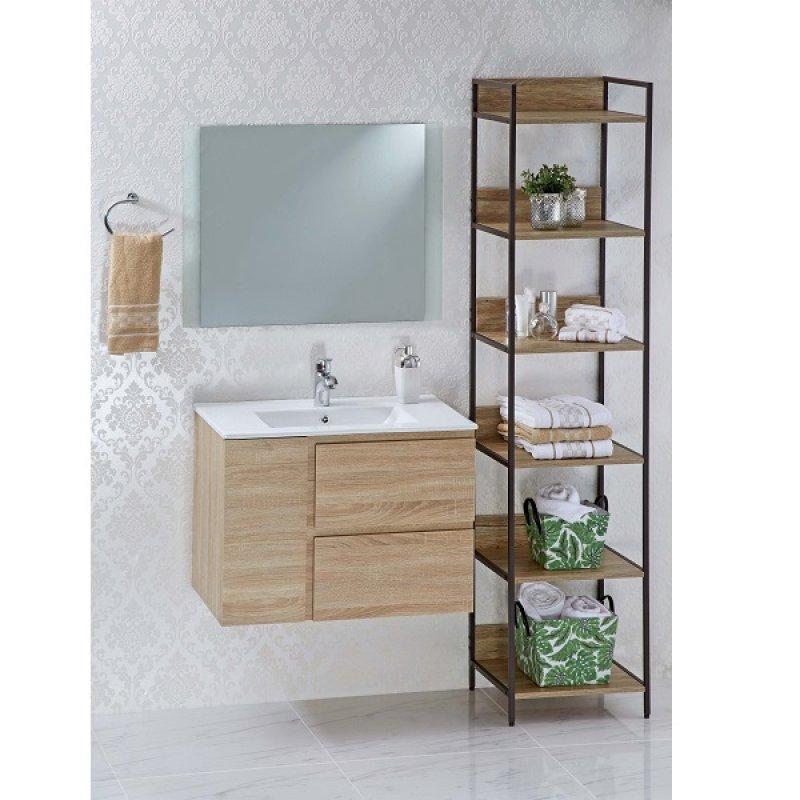 Mueble Baño Cereus con Lavamanos 76X46X55Cm Caqui