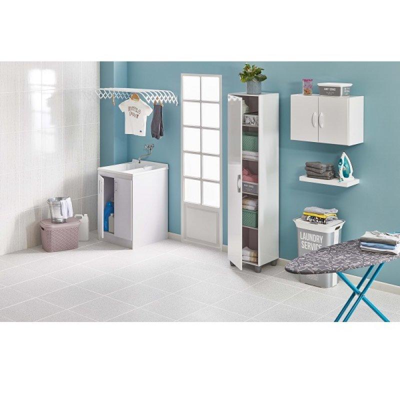 Mueble Blanco 2 Puertas Para Lavadero 60X60