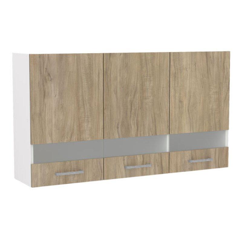 Mueble Superior 3 Puertas Carvalho 120Cm