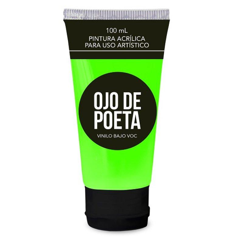 Pintura Acrílica Ojo Poeta 100Ml Verde Fluorescente
