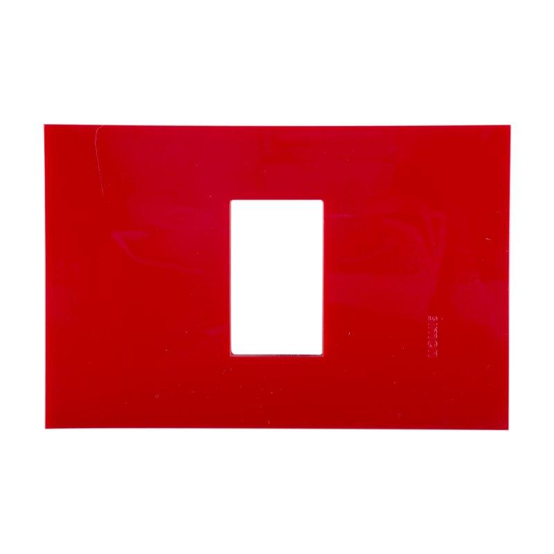 Placa 1 Módulo sin Chasis Rojo Carmesi