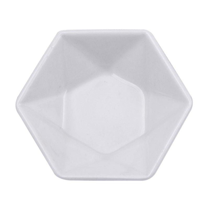 Plato 12 cm Hexagonal Actualite Blanco
