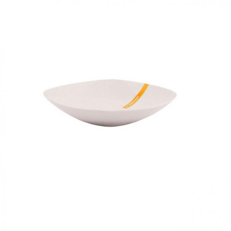 Plato de Sopa Básico Cuadrado 23Cm