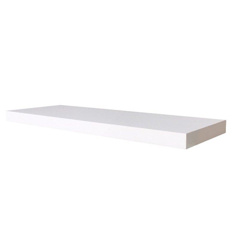 Repisa Flotante 80 cm x 23.5 cm x 3.8 cm Albert Gloss Blanco