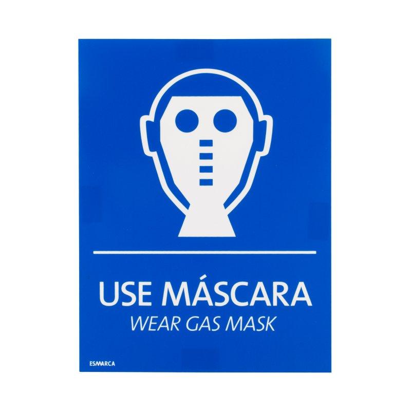 Señal 15 cm x 20 cm Use Máscara