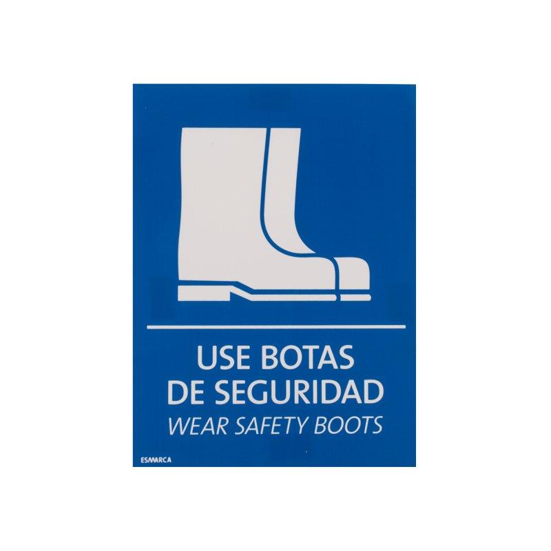 Señal Use Botas 17.8X12.7cm