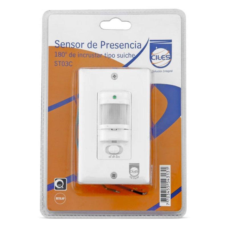 Sensor Presencia ST30C Incrustar Suiche 180°