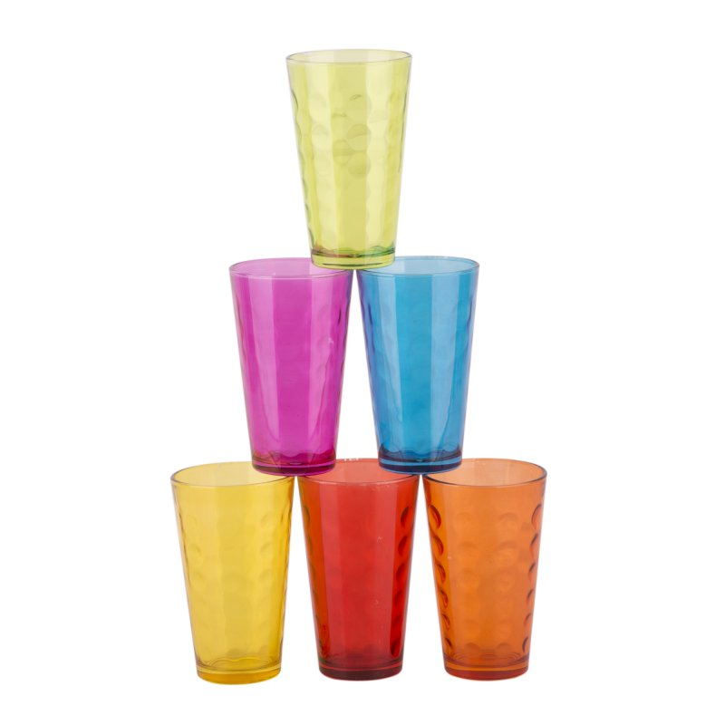 Set 6 Vasos Color Alto