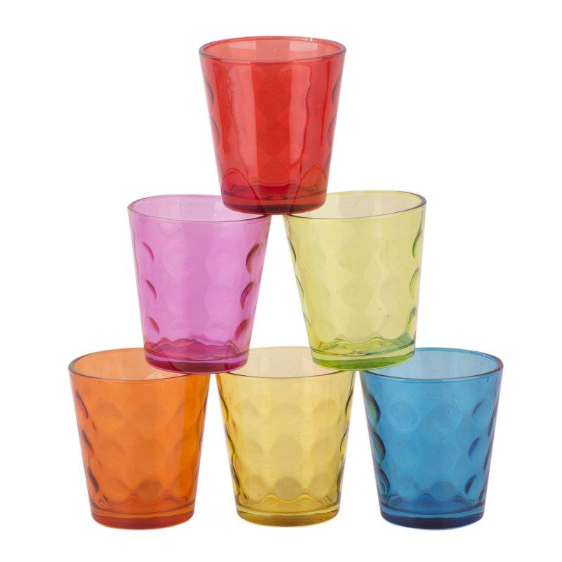 Set 6 Vasos Color Bajo