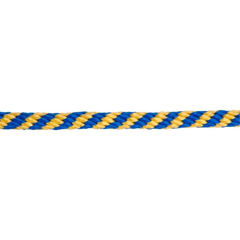 Soga Bicolor 8 mm x 1 m Trenzada Azul Amarillo
