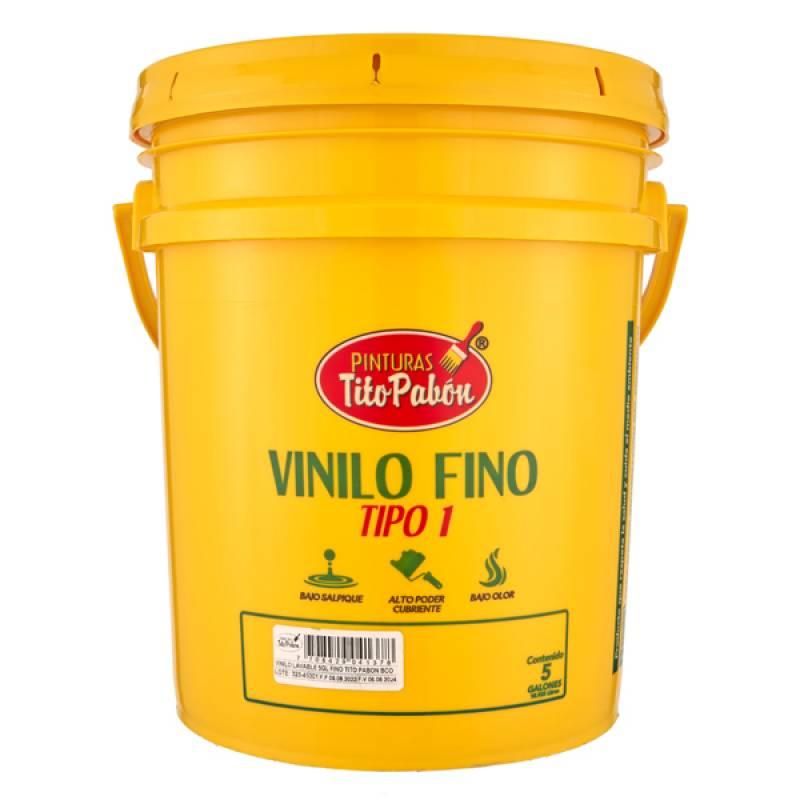 Vinilo Fino Interior Blanco x5 Galones