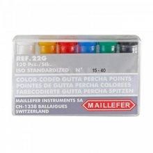 Conos de Gutapercha Maillefer 15-40 Caja x 120 Unidades