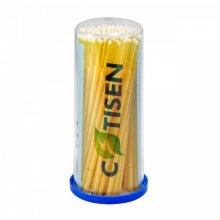 Micropincel Aplicador Dental Tamaño Fino Amarillos Tubo x 100 Unidades