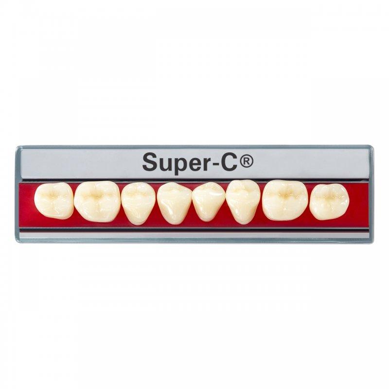 Super-C® Dientes Posteriores Plaqueta x 8 Piezas